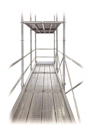 従来足場より広い作業空間 階高1900mm